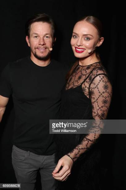 Actors Mark Wahlberg and Laura Haddock at CinemaCon 2017 Paramount Pictures Presentation Highlighting Its Summer of 2017 and Beyond at The Colosseum...