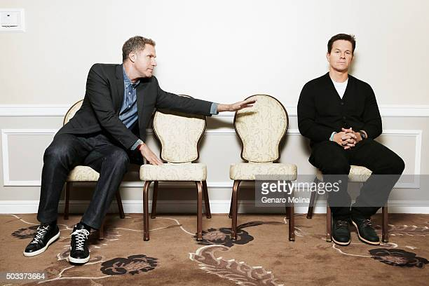 Actors Mark Wahlberg and Will Ferrell are photographed for Los Angeles Times on November 19 2015 in Los Angeles California PUBLISHED IMAGE CREDIT...