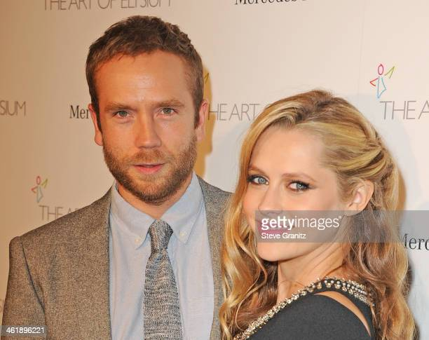Actors Mark Webber and Teresa Palmer arrive at The Art of Elysium's 7th Annual HEAVEN Gala presented by MercedesBenz at Skirball Cultural Center on...