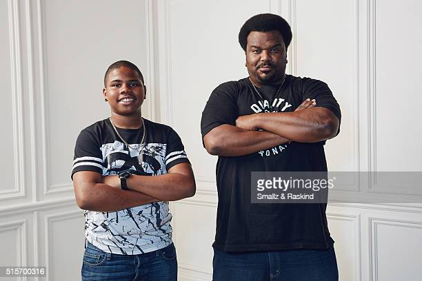 Actors Markees Christmas and Craig Robinson of 'Morris from America' are photographed in the Getty Images SXSW Portrait Studio powered by Samsung at...