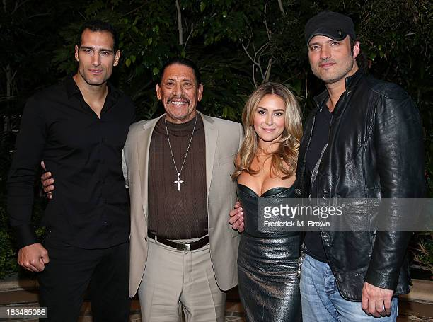 Actors Marko Zaror Danny Trejo and actress Alexa Vega and director Robert Rodriguez attend the Open Road Films' 'Machete Kills' Press Conference at...