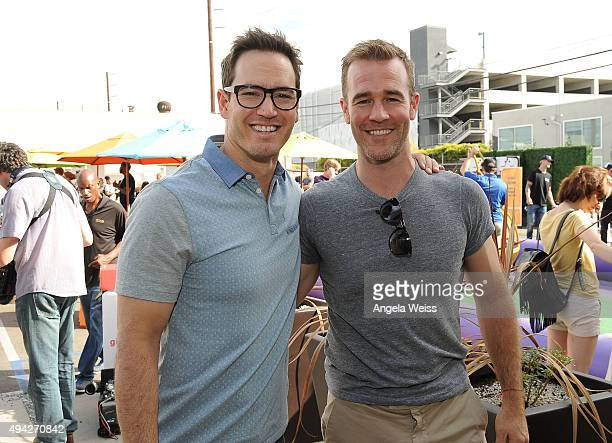 Actors MarkPaul Gosselaar and James Van Der Beek attend the Elizabeth Glaser Pediatric AIDS Foundation's 26th Annual A Time For Heroes Family...