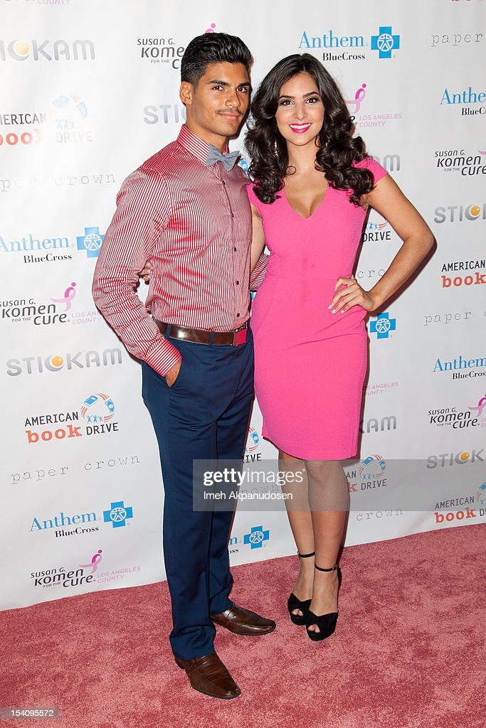 Actors Marlon Aquino (L) and Camila Banus attend the 2nd Annual Designs For The Cure Gala at Millennium Biltmore Hotel on October 13, 2012 in Los Angeles, California.