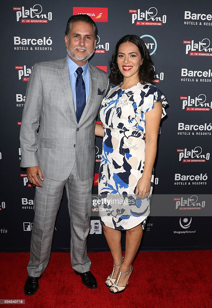 Actors Marlon Moreno (L) and Carla Vila attend the nomination announcement for The 3rd Annual Premios Platino of Iberoamerican Cinema at The London on May 26, 2016 in West Hollywood, California.
