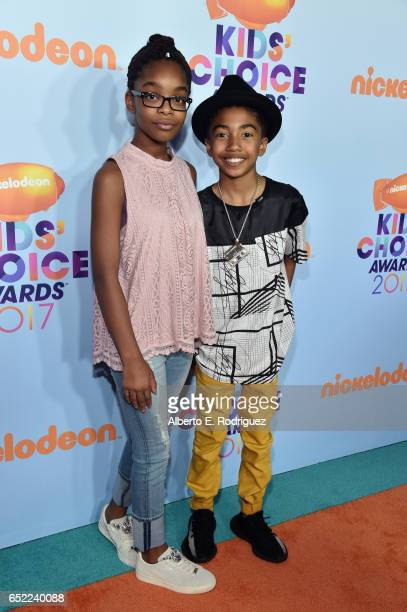 Actors Marsai Martin and Miles Brown at Nickelodeon's 2017 Kids' Choice Awards at USC Galen Center on March 11 2017 in Los Angeles California