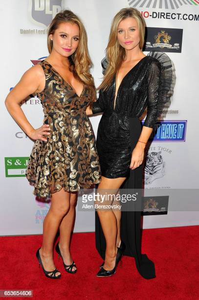 Actors Marta Krupa and Joanna Krupa attend the premiere of Skinfly Entertainment's 'You Can't Have It' at TCL Chinese Theatre on March 15 2017 in...