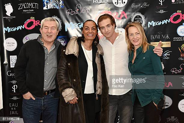 Actors Martin Lamotte Aida Daghari Ludovic Chancel and Gabrielle Lazure attend The Meghanora Auction Fashion Show to Benefit Meghanora Children Care...