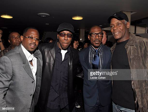 Actors Martin Lawrence Wesley Snipes Eddie Murphy and Danny Glover attend the 'Death At A Funeral' Los Angeles Premiere at Pacific's Cinerama Dome on...