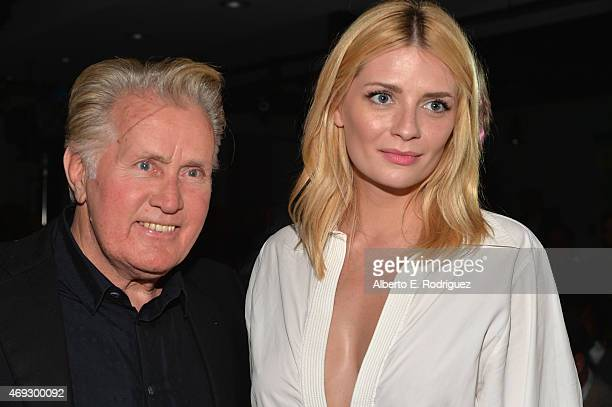 Actors Martin Sheen and Mischa Barton attend Kat Kramer's 'Films That Change The World' on April 10 2015 in Hollywood California
