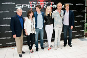 Actors Martin Sheen Sally Field Andrew Garfield Emma Stone Rhys Ifans and Denis Leary attend the 'The Amazing SpiderMan' New York City Photo Call at...