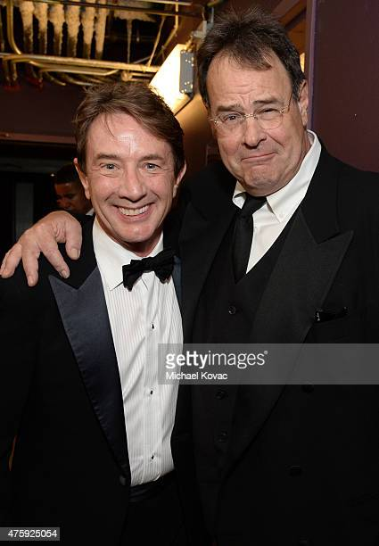 Actors Martin Short and Dan Aykroyd attend the 43rd AFI Life Achievement Award Gala honoring Steve Martin at Dolby Theatre on June 4 2015 in...