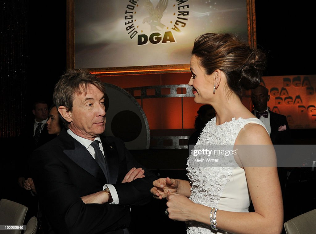Actors Martin Short (L) and Jennifer Garner attend the 65th Annual Directors Guild Of America Awards at Ray Dolby Ballroom at Hollywood & Highland on February 2, 2013 in Los Angeles, California.