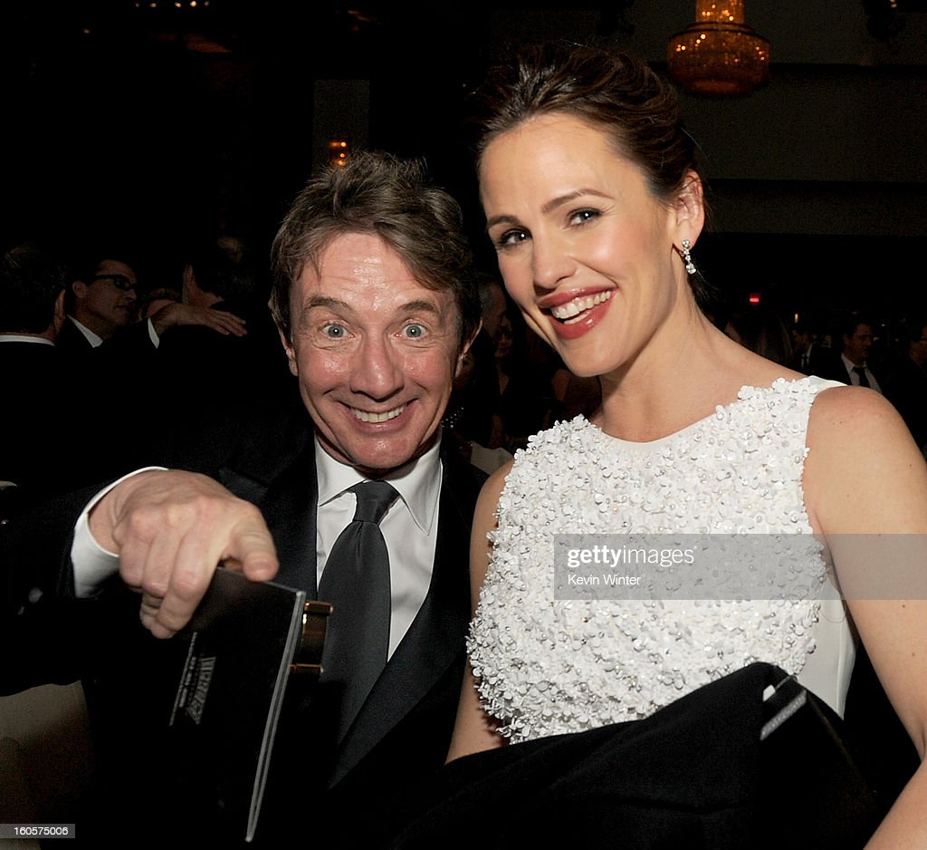 Actors <a gi-track='captionPersonalityLinkClicked' href=/galleries/search?phrase=Martin+Short&family=editorial&specificpeople=211569 ng-click='$event.stopPropagation()'>Martin Short</a> and <a gi-track='captionPersonalityLinkClicked' href=/galleries/search?phrase=Jennifer+Garner&family=editorial&specificpeople=201813 ng-click='$event.stopPropagation()'>Jennifer Garner</a> during the 65th Annual Directors Guild Of America Awards at Ray Dolby Ballroom at Hollywood & Highland on February 2, 2013 in Los Angeles, California.