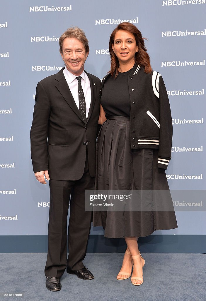 Actors Martin Short and Maya Rudolph attend the NBCUniversal 2016 Upfront Presentation on May 16, 2016 in New York, New York.