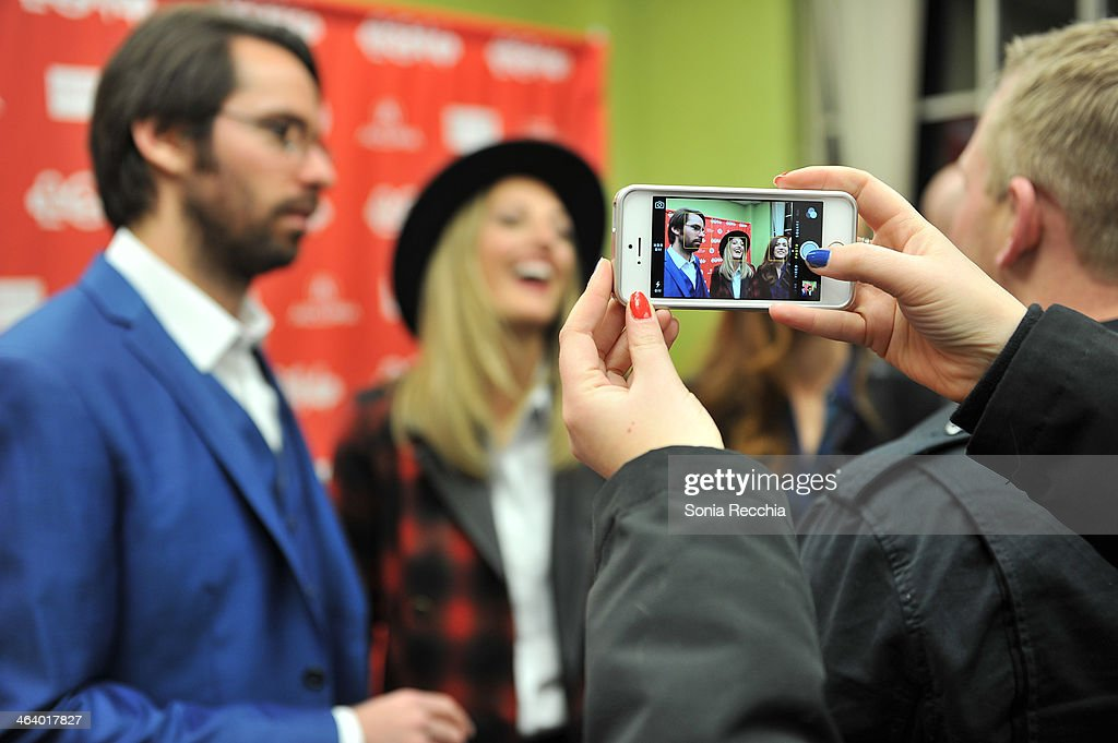 Actors Martin Starr (L) and Ingrid Haas attend the 'Dead Snow; Red vs. Dead' premiere at Library Center Theater during the 2014 Sundance Film Festival on January 19, 2014 in Park City, Utah.