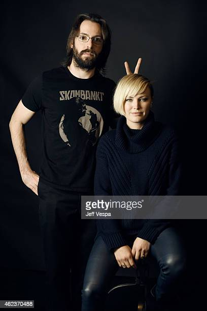 Actors Martin Starr and Malin Akerman of 'I'll See You in My Dreams' pose for a portrait at the Village at the Lift Presented by McDonald's McCafe...