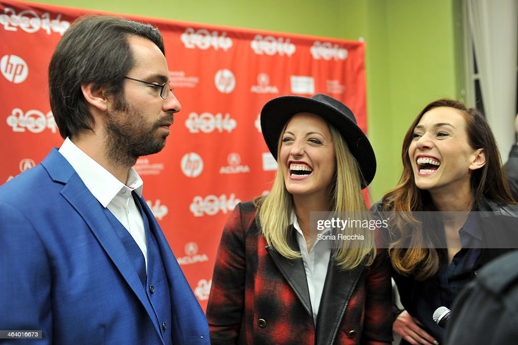 Actors Martin Starr, Ingrid Haas and Jocelyn DoBoer attend the 'Dead Snow; Red vs. Dead' premiere at Library Center Theater during the 2014 Sundance Film Festival on January 19, 2014 in Park City, Utah.