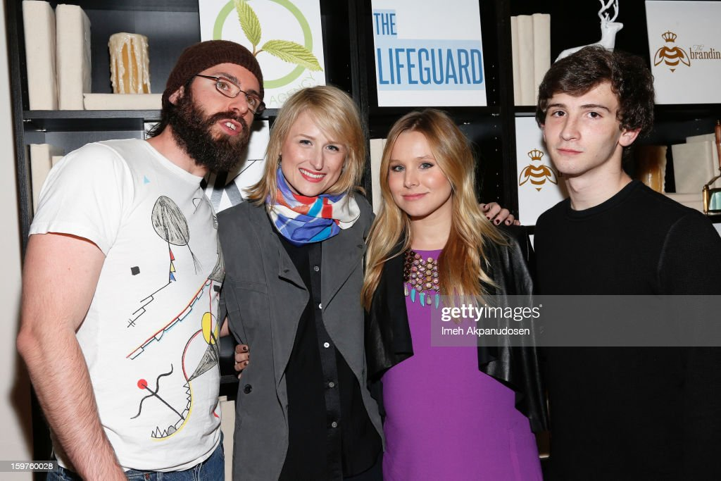 Actors Martin Starr, Mamie Gummer, Kristen Bell, and Alex Shaffer attend 'The Lifeguard' after party on January 19, 2013 in Park City, Utah.