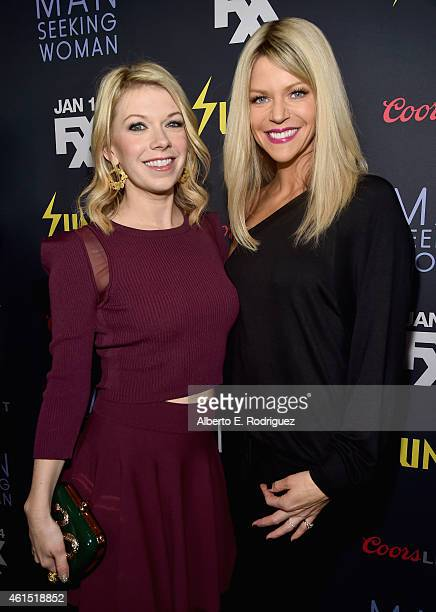 Actors Mary Elizabeth Ellis and Kaitlin Olson arrive to the premiere of FXX's 'It's Always Sunny in Philadelphia' 10th Season and 'Man Seeking Woman'...