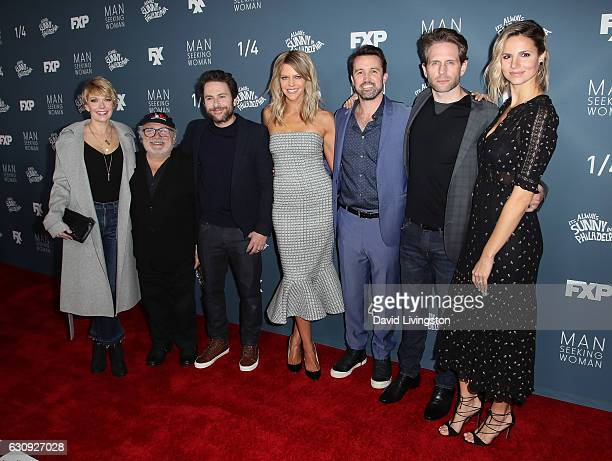 Actors Mary Elizabeth Ellis Danny DeVito Charlie Day Kaitlin Olson Rob McElhenney Glenn Howerton and Jill Latiano attend the premiere of FXX's 'It's...