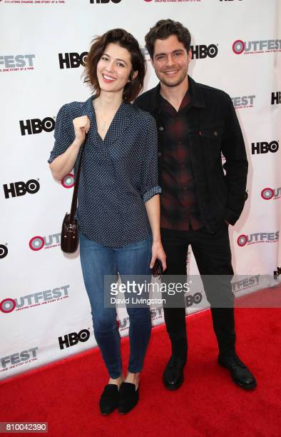 Actors Mary Elizabeth Winstead and Ben Lewis attend the 2017 Outfest Los Angeles LGBT Film Festival Opening Night Gala of 'God's Own Country' at the...