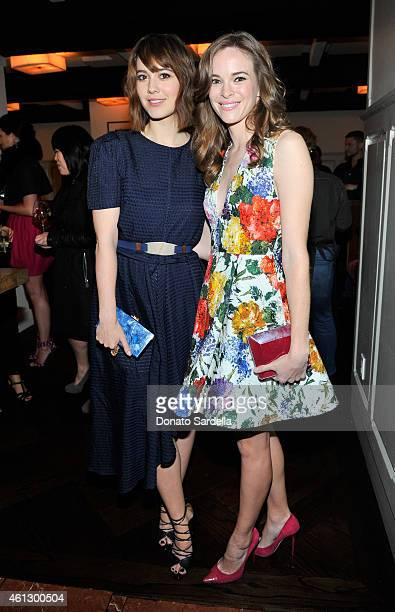 Actors Mary Elizabeth Winstead and Danielle Panabaker attend Lynn Hirschberg Celebrates W's It Girls with Piaget and Dom Perignon at AOC on January...