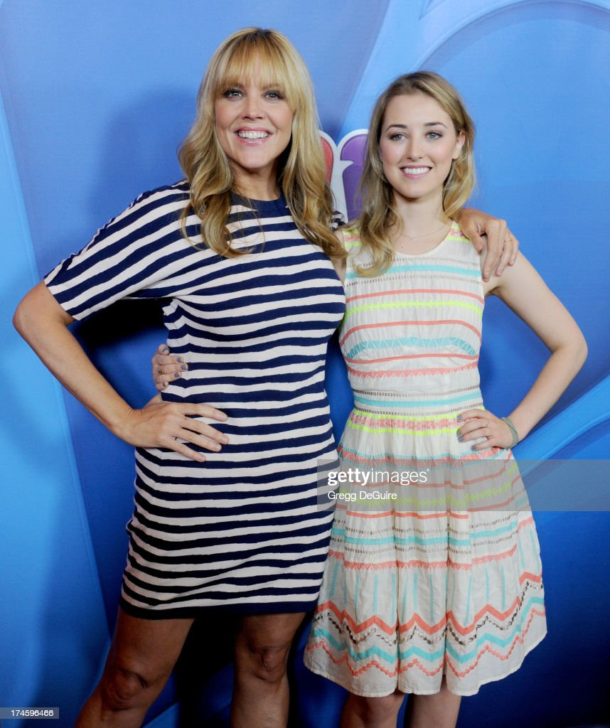 Actors Mary McCormack and Ella Rae Peck arrive at the 2013 NBC Television Critics Association's Summer Press Tour at The Beverly Hilton Hotel on July 27, 2013 in Beverly Hills, California.