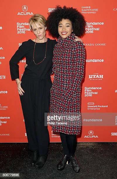 Actors Mary Stuart Masterson and Amandla Stenberg attend the 'As You Are' Premiere during the 2016 Sundance Film Festival at Library Center Theater...