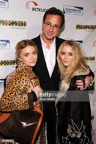 Actors MaryKate Olsen Bob Saget and Ashley Olsen attend 'Cool Comedy Hot Cuisine 2009' hosted by the Scleroderma Research Foundation at Carolines On...