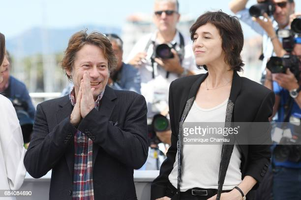 Actors Mathieu Amalric and Charlotte Gainsbourg attend the 'Ismael's Ghosts ' photocall during the 70th annual Cannes Film Festival at Palais des...