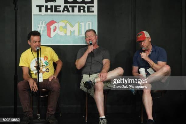 Actors Matt Besser Ian Roberts and Matt Walsh attend the 19th Annual Del Close Improv Comedy Marathon Press Conference at Upright Citizens Brigade...