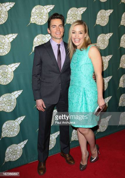 Actors Matt Bomer and Piper Perabo attend the 50th annual Publicists Awards Luncheon at The Beverly Hilton Hotel on February 22 2013 in Beverly Hills...