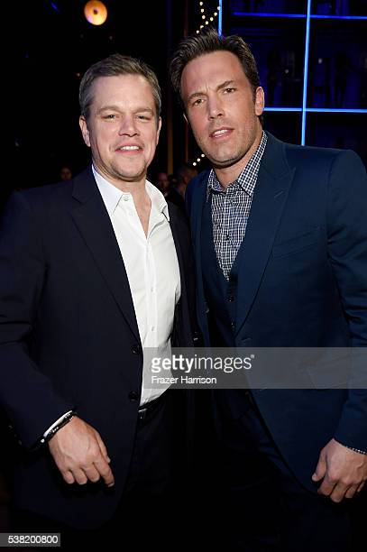 Actors Matt Damon and Ben Affleck attend Spike TV's 10th Annual Guys Choice Awards at Sony Pictures Studios on June 4 2016 in Culver City California