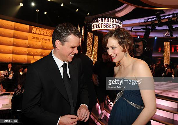 Actors Matt Damon and Vera Farmiga during the 15th annual Critics' Choice Movie Awards held at the Hollywood Palladium on January 15 2010 in...
