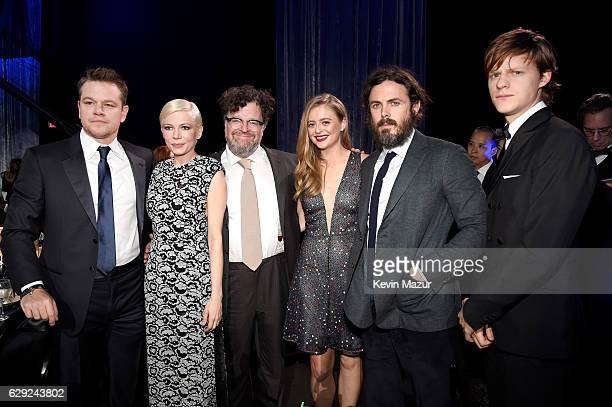 Actors Matt Damon Michelle Williams director Kenneth Lonergan actors Anna Katerina Baryshnikov Casey Affleck and Lucas Hedges attend The 22nd Annual...