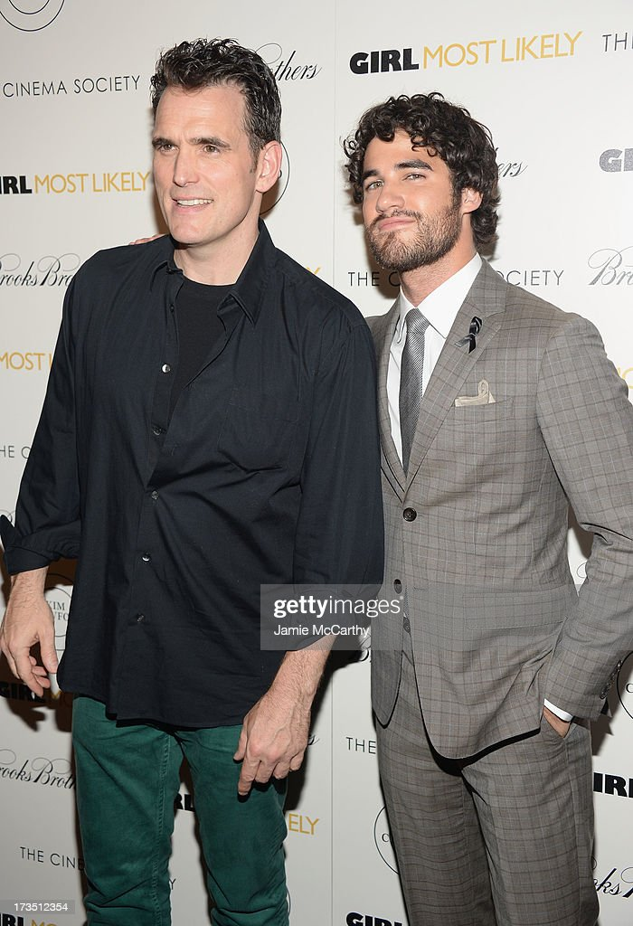 Actors <a gi-track='captionPersonalityLinkClicked' href=/galleries/search?phrase=Matt+Dillon&family=editorial&specificpeople=202099 ng-click='$event.stopPropagation()'>Matt Dillon</a> and <a gi-track='captionPersonalityLinkClicked' href=/galleries/search?phrase=Darren+Criss&family=editorial&specificpeople=7341435 ng-click='$event.stopPropagation()'>Darren Criss</a> attend the screening of Lionsgate and Roadside Attractions' 'Girl Most Likely' hosted by The Cinema Society & Brooks Brothers at Landmark's Sunshine Cinema on July 15, 2013 in New York City.