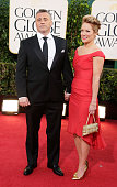 Actors Matt LeBlanc and Andrea Anders arrive at the 70th Annual Golden Globe Awards held at The Beverly Hilton Hotel on January 13 2013 in Beverly...