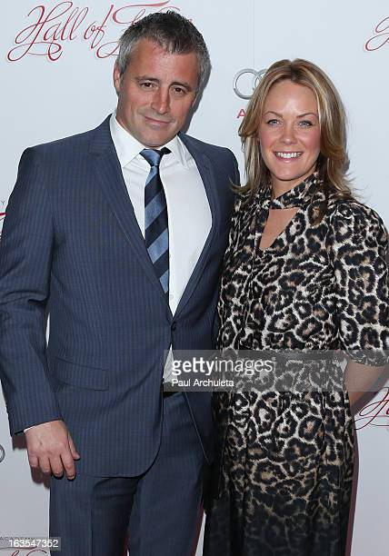 Actors Matt LeBlanc and Andrea Anders attend the Academy Of Television Arts Sciences 22nd annual Hall Of Fame induction gala at The Beverly Hilton...