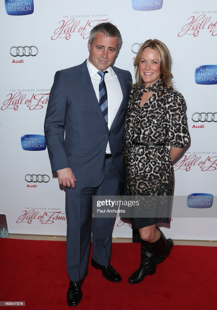 Actors <a gi-track='captionPersonalityLinkClicked' href=/galleries/search?phrase=Matt+LeBlanc&family=editorial&specificpeople=204471 ng-click='$event.stopPropagation()'>Matt LeBlanc</a> (L) and <a gi-track='captionPersonalityLinkClicked' href=/galleries/search?phrase=Andrea+Anders&family=editorial&specificpeople=633113 ng-click='$event.stopPropagation()'>Andrea Anders</a> (R) attend the Academy Of Television Arts & Sciences 22nd annual Hall Of Fame induction gala at The Beverly Hilton Hotel on March 11, 2013 in Beverly Hills, California.