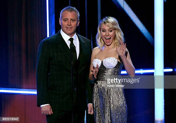 Actors Matt LeBlanc and Kristen Bell speak onstage during the People's Choice Awards 2017 at Microsoft Theater on January 18 2017 in Los Angeles...