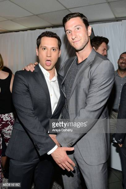 Actors Matt McGorry and Pablo Schreiber attend the 2014 Young Hollywood Awards brought to you by Mr Pink held at The Wiltern on July 27 2014 in Los...