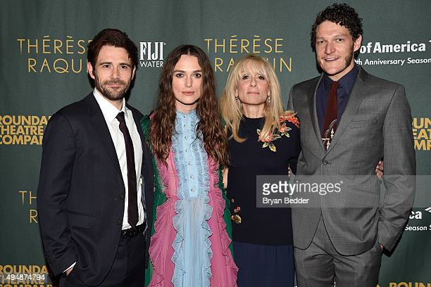 Actors Matt Ryan Keira Knightley Judith Light and Gabriel Ebert attend the Roundabout Theatre Company's Broadway opening night of Therese Raquin...