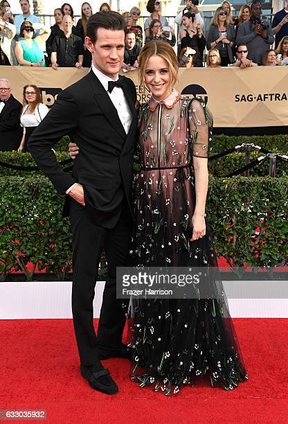 Actors Matt Smith and Claire Foy attend The 23rd Annual Screen Actors Guild Awards at The Shrine Auditorium on January 29 2017 in Los Angeles...
