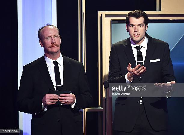 Actors Matt Walsh and Timothy Simons speak onstage at the 5th Annual Critics' Choice Television Awards at The Beverly Hilton Hotel on May 31 2015 in...