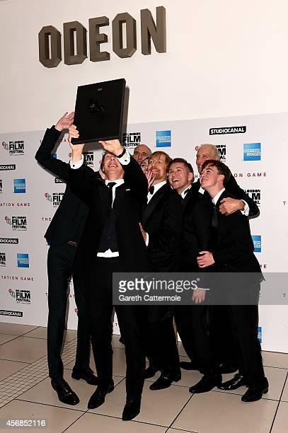 Actors Matthew Beard Benedict CumberbatchMark Strong Keira Knightley director Morten Tyldum actors Allen Leech Charles Dance and Alex Lawther are...