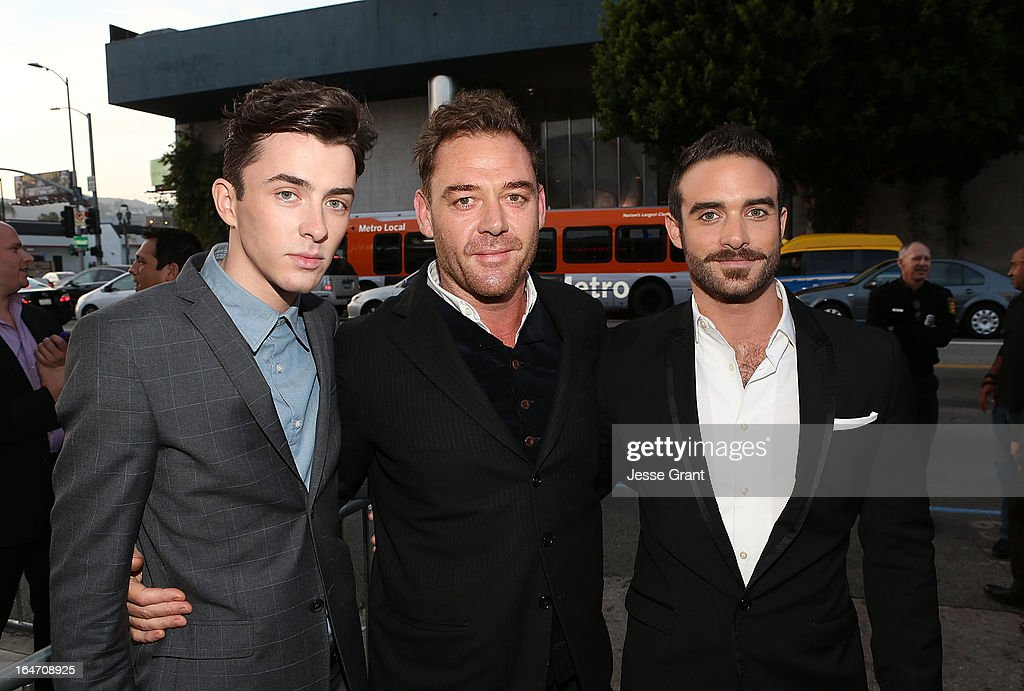 Actors <a gi-track='captionPersonalityLinkClicked' href=/galleries/search?phrase=Matthew+Beard+-+British+Actor+-+Born+1989&family=editorial&specificpeople=6360553 ng-click='$event.stopPropagation()'>Matthew Beard</a>, <a gi-track='captionPersonalityLinkClicked' href=/galleries/search?phrase=Marton+Csokas&family=editorial&specificpeople=2133714 ng-click='$event.stopPropagation()'>Marton Csokas</a> and Joshua Sasse attend the Los Angeles Premiere of 'Rogue' at ArcLight Cinemas on March 26, 2013 in Hollywood, California.