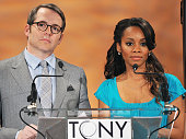 Actors Matthew Broderick and Anika Noni Rose announce the nominees during the 65th Annual Tony Award Nominations Announcement at The New York Public...
