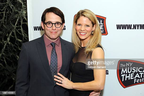 Actors Matthew Broderick and Kelli O'Hara attend the 9th Annual New York Musical Theatre Festival Gala at Hudson Theatre on November 11 2012 in New...