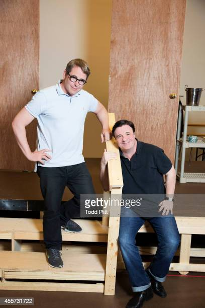 Actors Matthew Broderick and Nathan Lane are photographed for USA Today on August 18 2014 in New York City