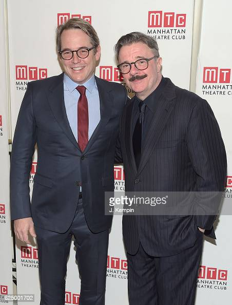 Actors Matthew Broderick and Nathan Lane attend the 2016 Manhattan Theatre Club's Fall Benefit at 583 Park Avenue on November 21 2016 in New York City